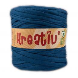 Butika.hu hobby webáruház - Kreatív pamut pólófonal, nagy gombolyag, olajkék, Kreativ-626