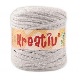 Butika.hu hobby webáruház - Kreatív pamut pólófonal, nagy gombolyag, világos szürke, Kreativ-638