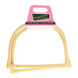 Butika.hu hobby webáruház - Opry, D formájú bambusz táskafül, 17.5x13.5cm, 1 pár, 99350-1