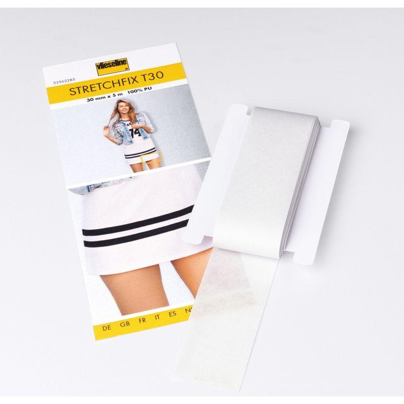 Butika.hu hobby webáruház - Vlieseline Stretchfix T30, bevasalható vetex szalag, rugalmas anyagokhoz, két oldalas, 30mm x 5m