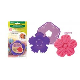 Butika.hu hobby webáruház - Clover nagy virág formájú yo-yo készítő sablon, 45mm - CL8707