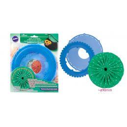 Butika.hu hobby webáruház - Clover jumbo yo-yo készítő sablon, 90mm - CL8708