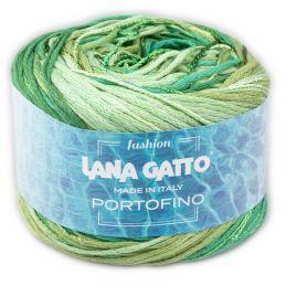 Butika.hu hobby webáruház - Lana Gatto Portofino fonal, 70% pamut, 50g, 9235, Mix Verde