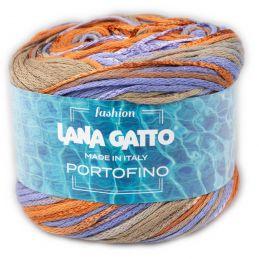 Butika.hu hobby webáruház - Lana Gatto Portofino fonal, 70% pamut, 50g, 9237, Mix Arancio/Celeste