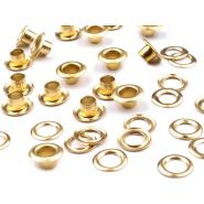 Butika.hu hobby webáruház - Ringli alátéttel, rozsdamentes, 5,5x5mm, 5 pár, 060257 - aranyszinű