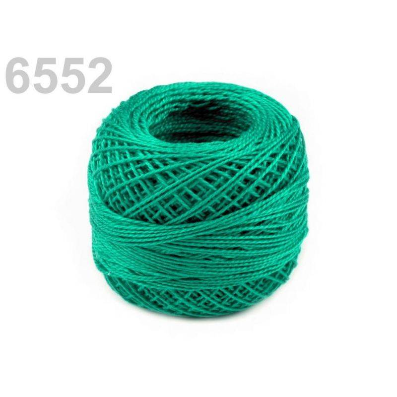 Butika.hu hobby webáruház - Hímzőcérna Cotton Perle Nitarna, Uni - 290104, 6552, zöld türkiz