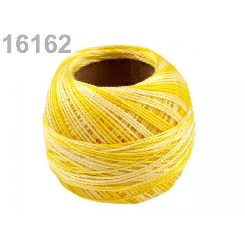 Butika.hu hobby webáruház - Hímzőcérna Cotton Perle Nitarna - policolor, 290019, 16162, citrom