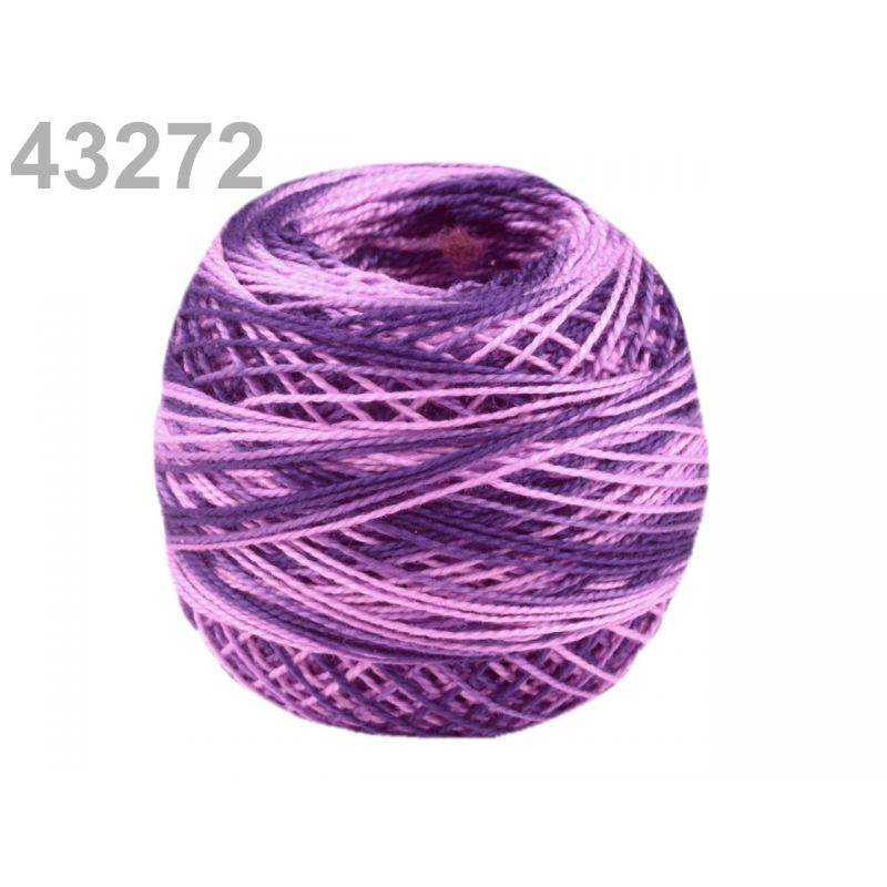 Butika.hu hobby webáruház - Hímzőcérna Cotton Perle Nitarna - policolor, 290019, 43272, grape royale