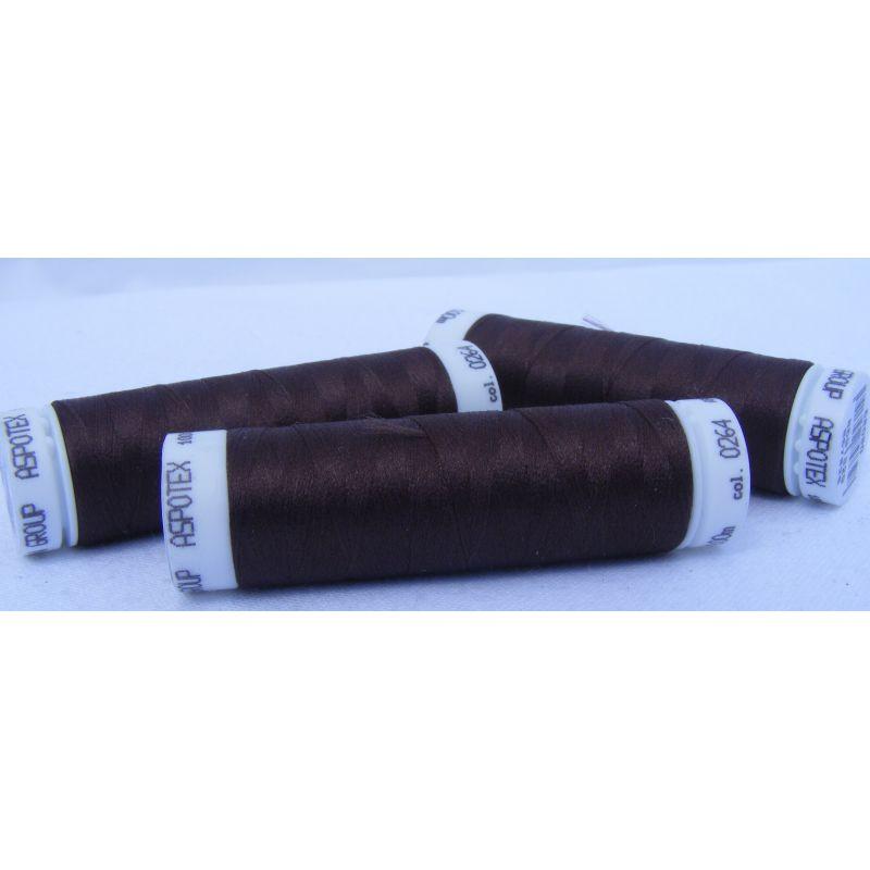 Butika.hu hobby webáruház - Amann Aspotex 120 poliészter varrócérna, 100m, Chocolate Brown, 0264