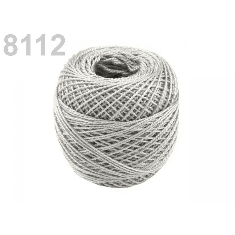 Butika.hu hobby webáruház - Hímzőcérna Cotton Perle Nitarna, Uni - 290104, 8112, flint szürke