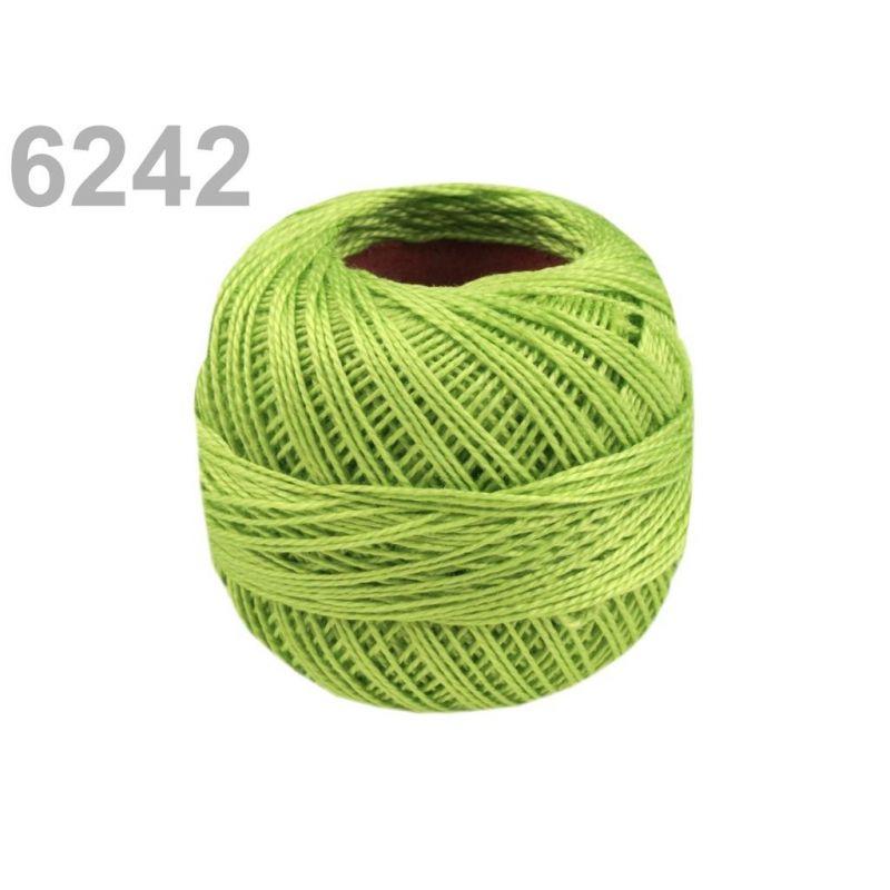 Butika.hu hobby webáruház - Hímzőcérna Cotton Perle Nitarna, Uni - 290104, 6242, világos lime zöld