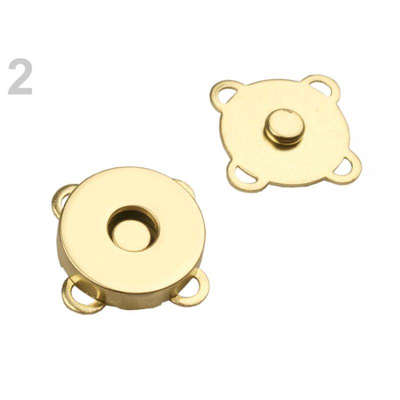 Butika.hu hobby webáruház - Felvarrható mágneszár, 18mm, 5db, 730018 - arany