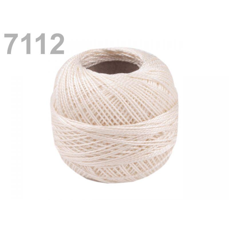 Butika.hu hobby webáruház - Hímzőcérna Cotton Perle Nitarna, Uni - 290104, 7112, világos bézs