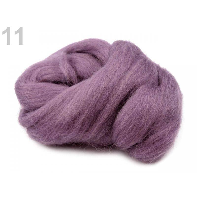 Butika.hu hobby webáruház - Fésült újzélandi merinó gyapjú nemezeléshez, 20g - lila, 11