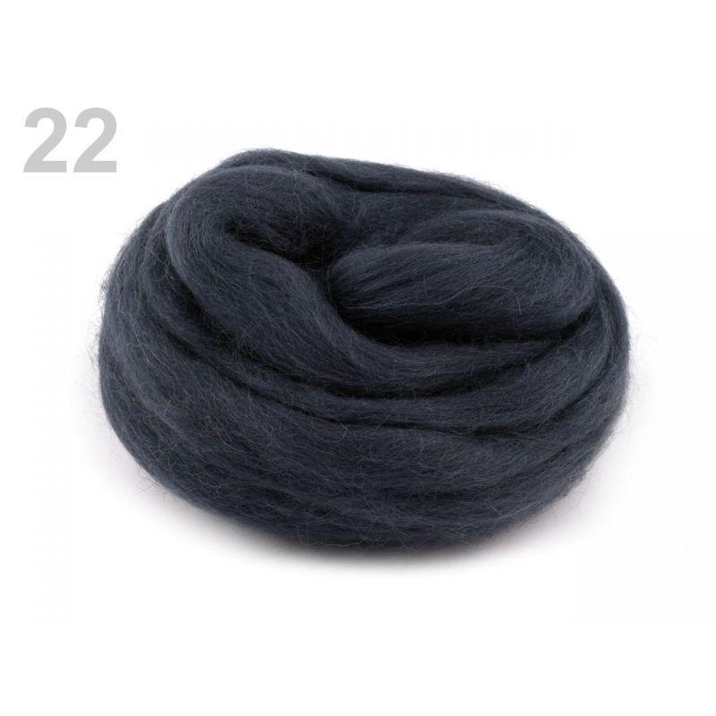 Butika.hu hobby webáruház - Fésült újzélandi merinó gyapjú nemezeléshez, 20g - sötét szürke, 22