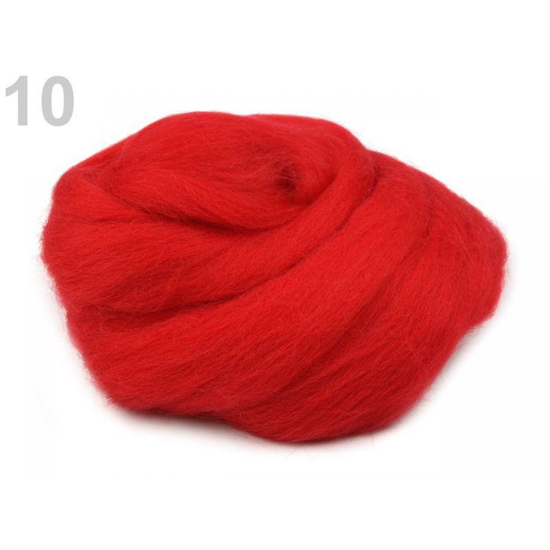 Butika.hu hobby webáruház - Fésült újzélandi merinó gyapjú nemezeléshez, 20g - piros, 10