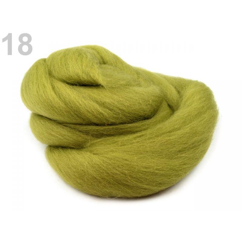 Butika.hu hobby webáruház - Fésült újzélandi merinó gyapjú nemezeléshez, 20g - sztyepp zöld, 18