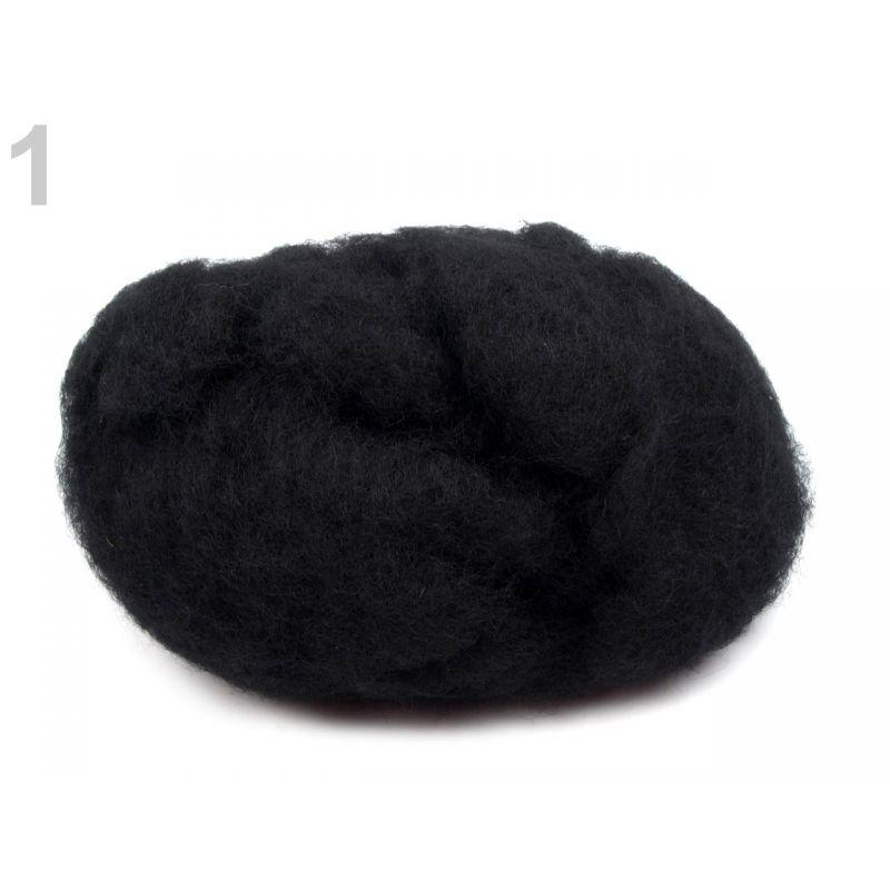 Butika.hu hobby webáruház - Új-Zélandi merinó gyapjú nemezeléshez, 20g - fekete, 1