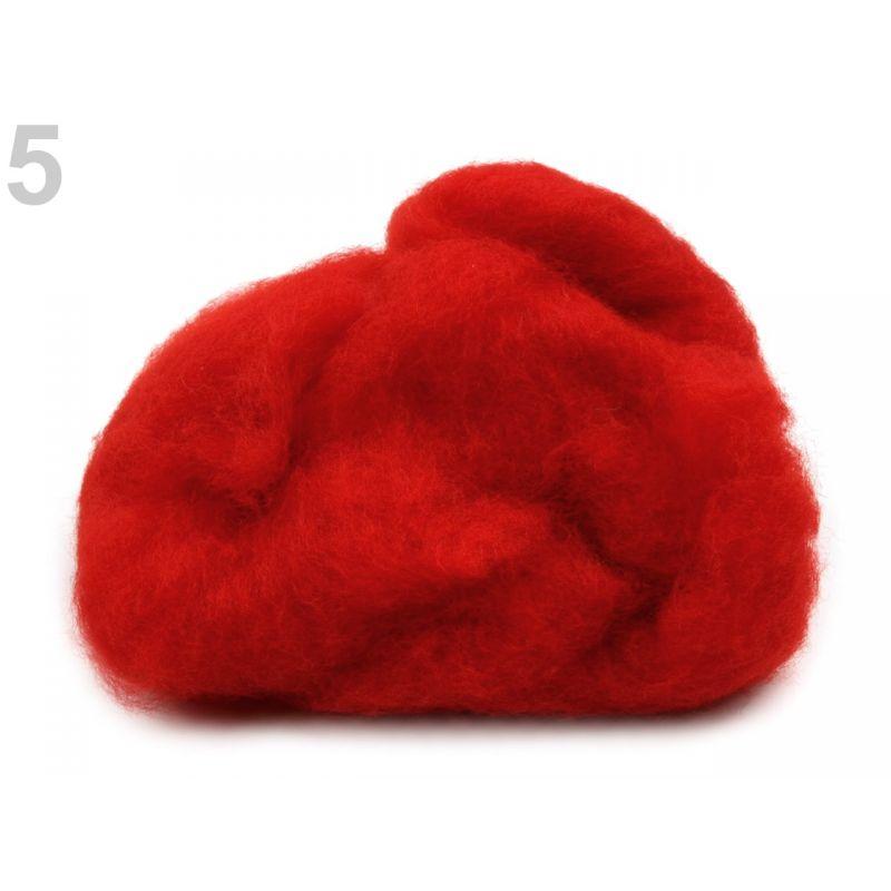Butika.hu hobby webáruház - Új-Zélandi merinó gyapjú nemezeléshez, 20g - piros, 5