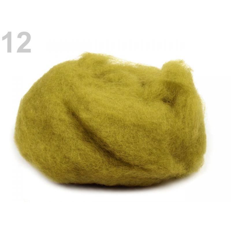Butika.hu hobby webáruház - Új-Zélandi merinó gyapjú nemezeléshez, 20g - sárgászöld, 12