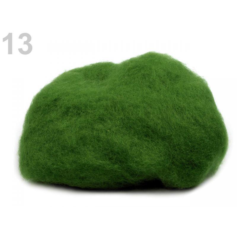 Butika.hu hobby webáruház - Új-Zélandi merinó gyapjú nemezeléshez, 20g - páfrány zöld, 13