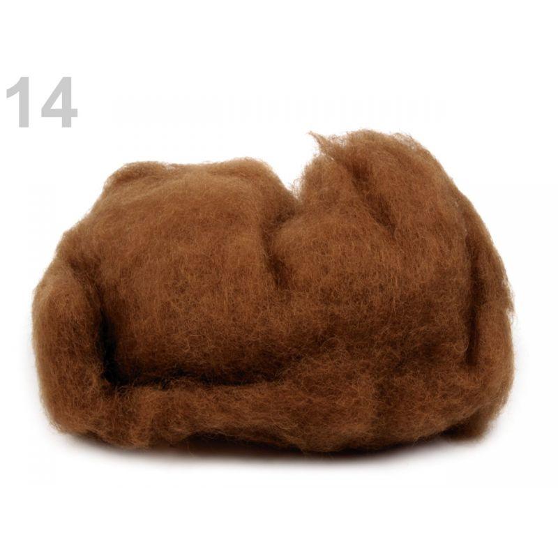 Butika.hu hobby webáruház - Új-Zélandi merinó gyapjú nemezeléshez, 20g - barna, 14