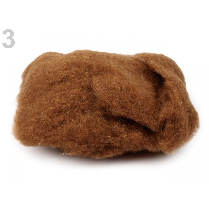 Butika.hu hobby webáruház - Festetlen merinó gyapjú nemezeléshez, 20g, Made in EU - világos barna, 3