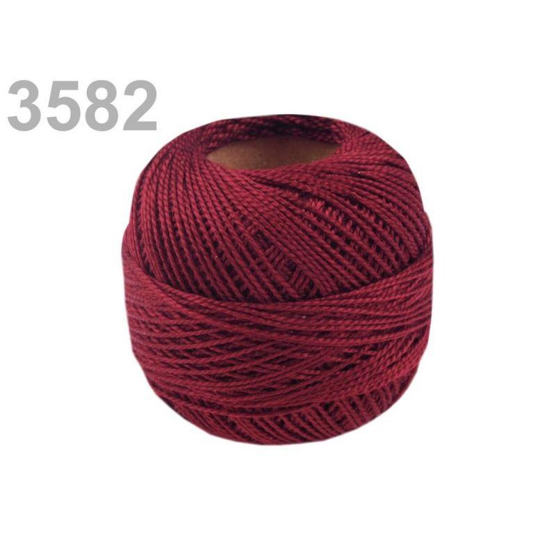 Butika.hu hobby webáruház - Hímzőcérna Cotton Perle Nitarna, Uni - 290104, 3582, rumba piros