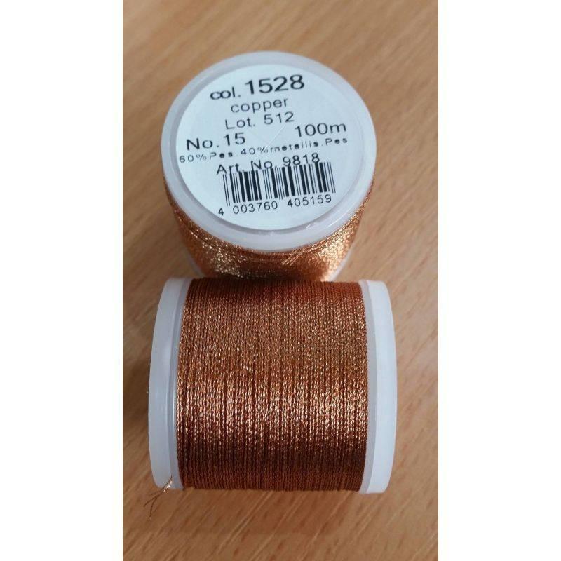 Butika.hu hobby webáruház - Metallic Madeira fémszálas hímzőcérna, No.15, 100m - Copper 1528