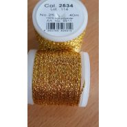 Butika.hu hobby webáruház - Metallic Madeira fémszálas hímzőcérna, No.25, 40m - Gold 2534