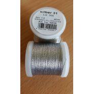 Butika.hu hobby webáruház - Metallic Madeira fémszálas hímzőcérna, No.12, 40m - Silver 31