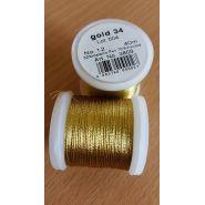 Butika.hu hobby webáruház - Metallic Madeira fémszálas hímzőcérna, No.12, 40m - Gold 34