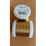 Butika.hu hobby webáruház - Metallic Madeira fémszálas hímzőcérna, No.12, 40m - Gold 37