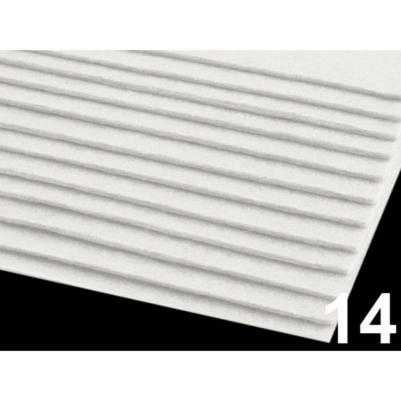 Butika.hu hobby webáruház - Poliészter filclap, 20x30cm, 2-3mm, 090683 - fehér, 14
