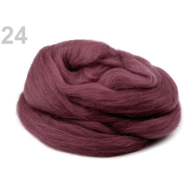 Butika.hu hobby webáruház - Fésült újzélandi merinó gyapjú nemezeléshez, 20g - vintage pink, 24