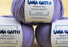 A Lana Gatto Mini Soft, Super Soft, Maxi Soft fonalcsalád